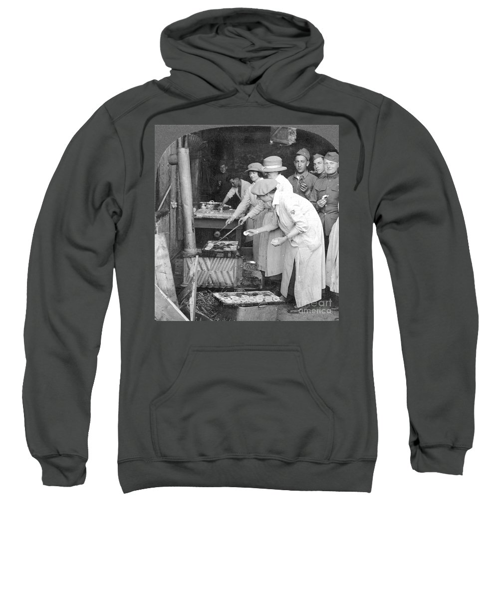 1918 Sweatshirt featuring the photograph Ymca Women Workers by Granger