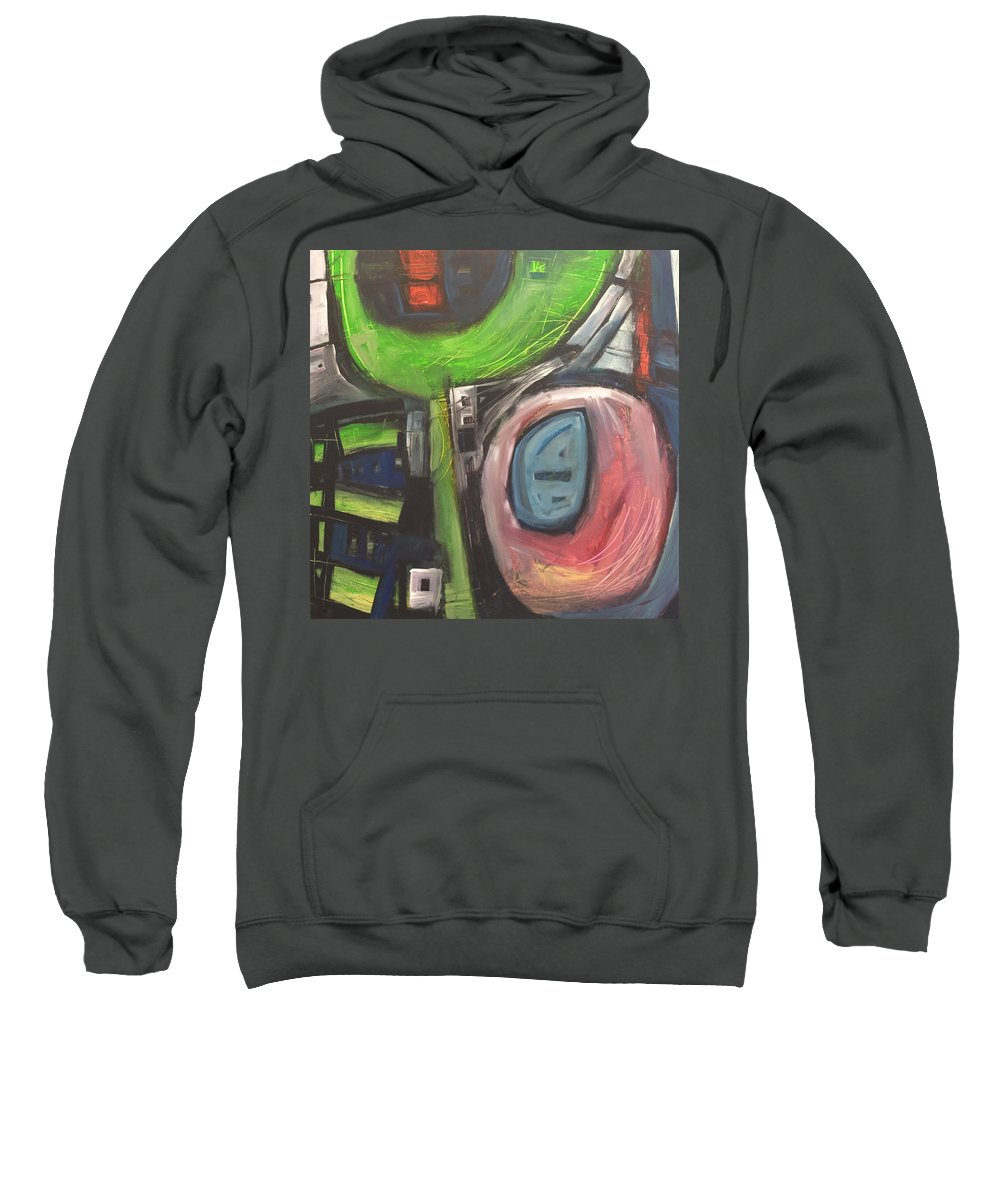 Abstract Sweatshirt featuring the painting YO by Tim Nyberg