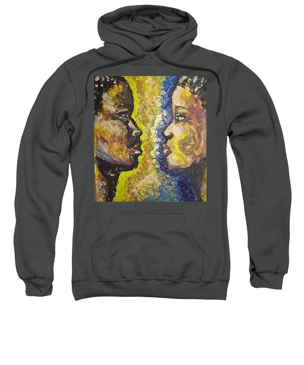 Sweatshirt featuring the painting You And I by Jan Gilmore