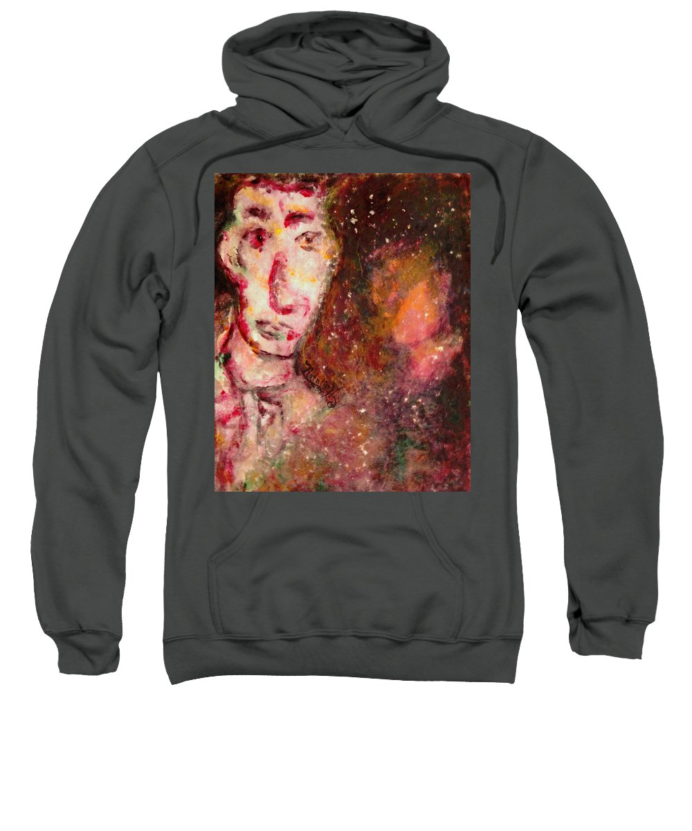 Free Expressionsim Sweatshirt featuring the painting You Are Always On My Mind by Natalie Holland