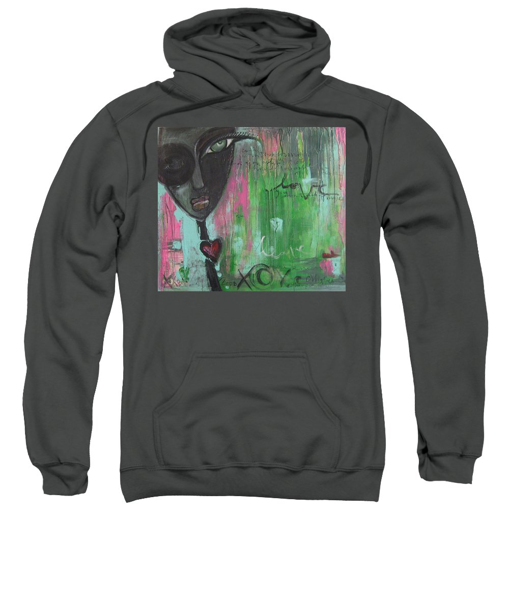 Figurative Sweatshirt featuring the painting You Cant Ask For More by Laurie Maves ART