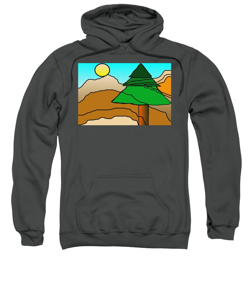 Digital Art Sweatshirt featuring the digital art You Dared Me by David Lane