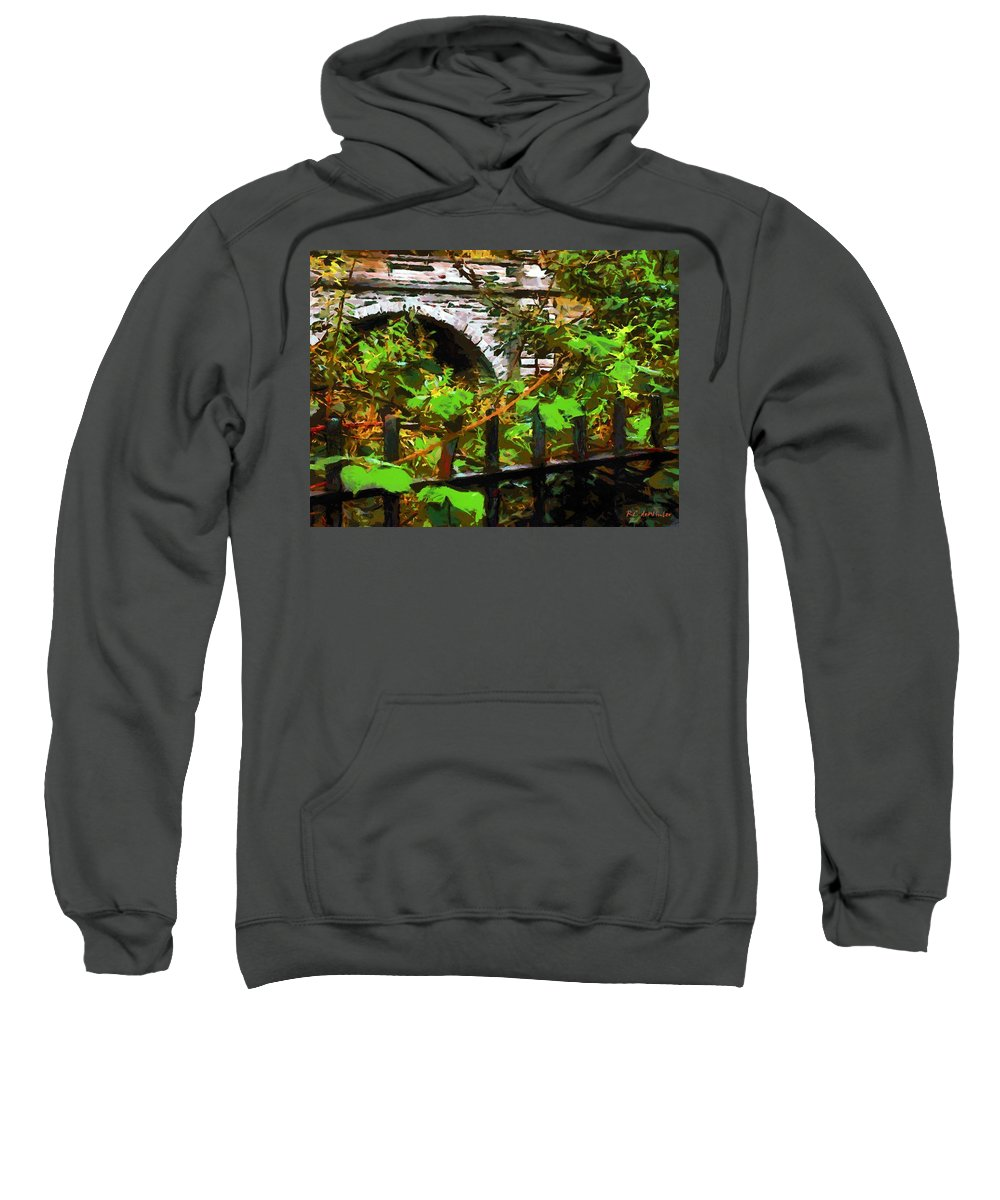 Fence Sweatshirt featuring the painting You Go First by RC DeWinter