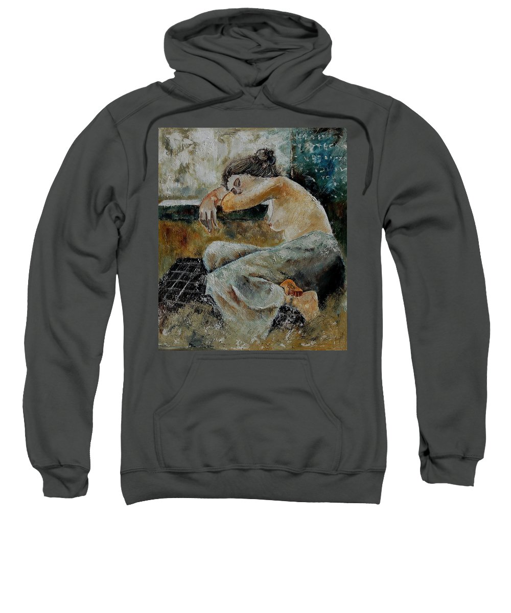 Girl Sweatshirt featuring the painting Young Girl 679050 by Pol Ledent