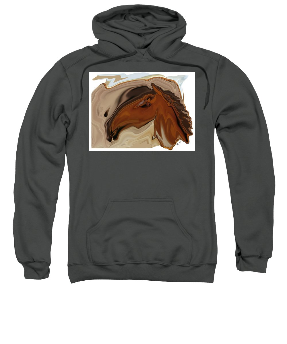 Youngster Sweatshirt featuring the digital art Youngster by Rabi Khan