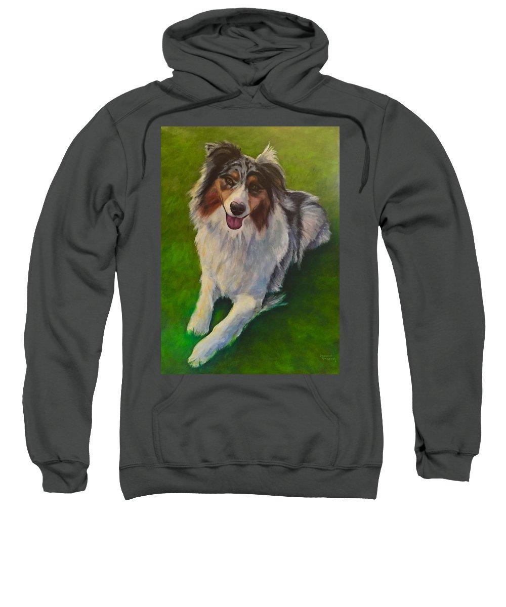 Yuki Sweatshirt featuring the painting Yuki by Shannon Grissom