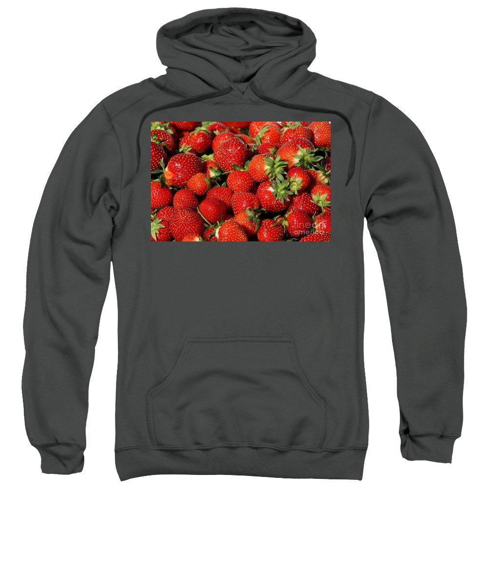Fruit Sweatshirt featuring the photograph Yummy Fresh Strawberries by Teresa Zieba