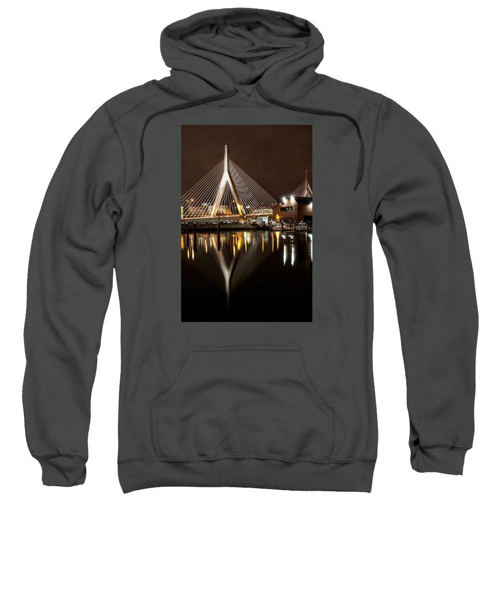 Boston Sweatshirt featuring the photograph Zakim Bridge by Matthew Sacco