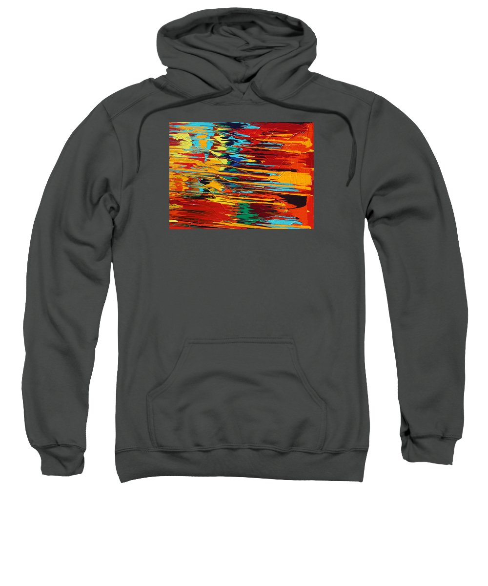 Fusionart Sweatshirt featuring the painting Zap by Ralph White