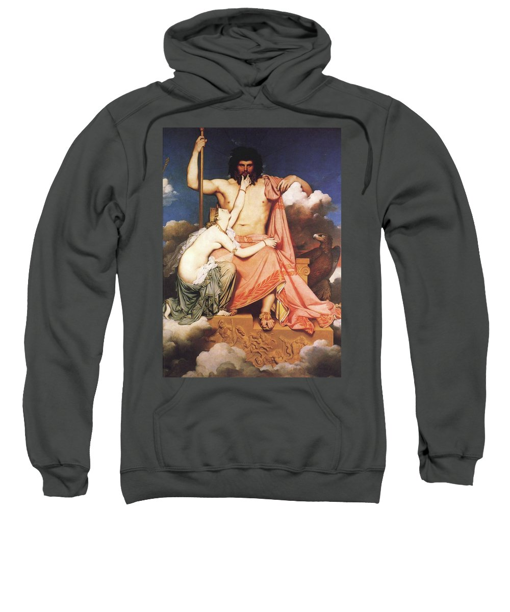 Zeus Sweatshirt featuring the painting Zeus And Thetis by Jean Auguste Dominique Ingres
