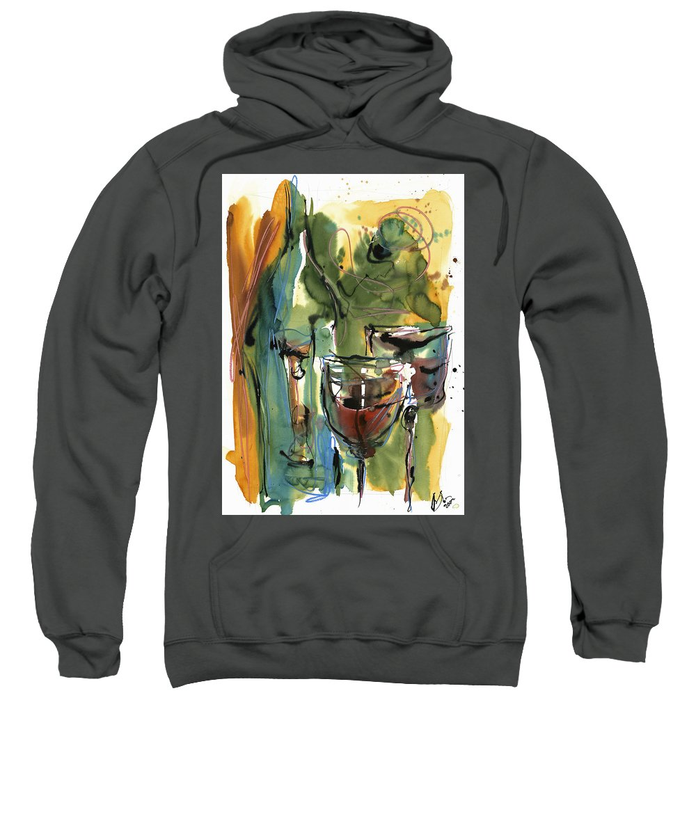 Wine Sweatshirt featuring the painting Zin-findel by Robert Joyner