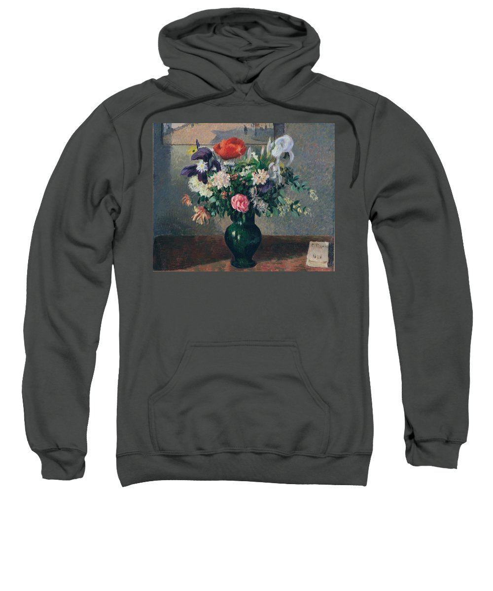 Camille Pissarro Sweatshirt featuring the painting Bouquet Of Flowers, 1898 by Camille Pissarro