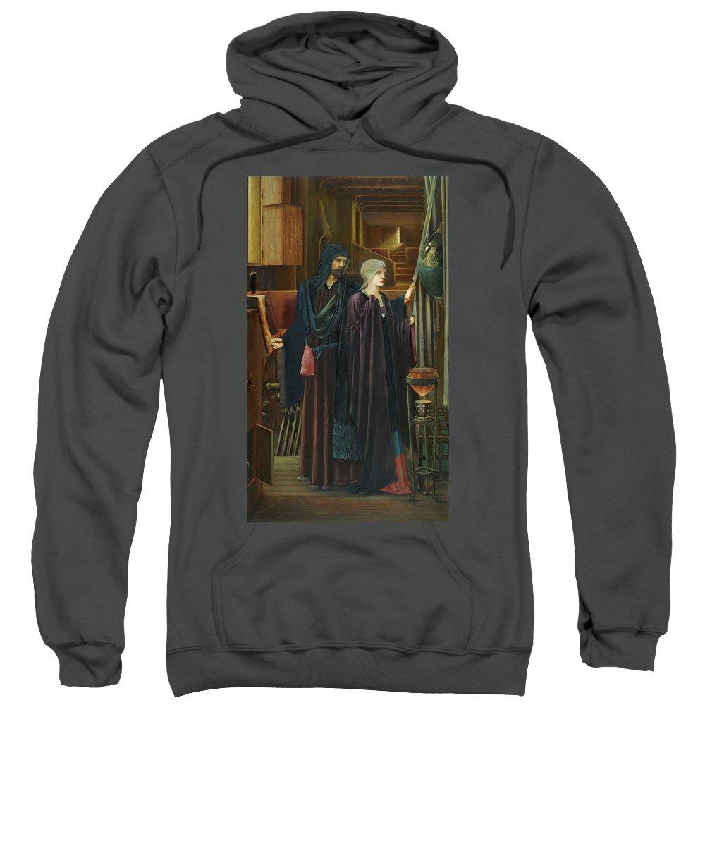 British Sweatshirt featuring the painting The Wizard by Edward Burne-Jones