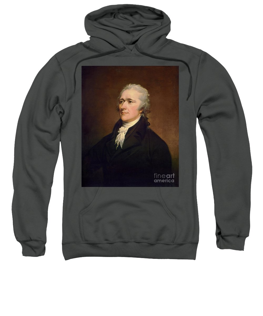 1806 Sweatshirt featuring the painting Alexander Hamilton by Granger