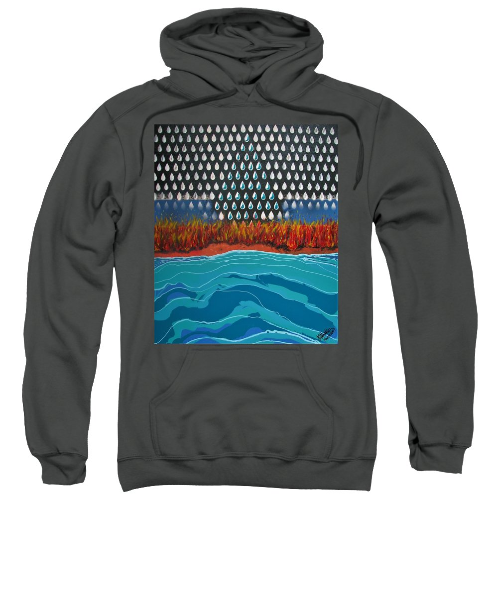 Sea Sweatshirt featuring the painting 40 Years Reconciliation by Joan Stratton
