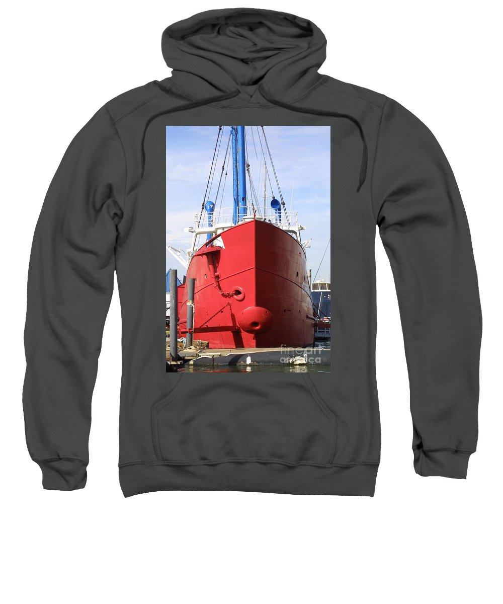 Steel Fishing Vessel Sweatshirt featuring the photograph An Old Tour Vessel Fisher by Darren Dwayne Frazier