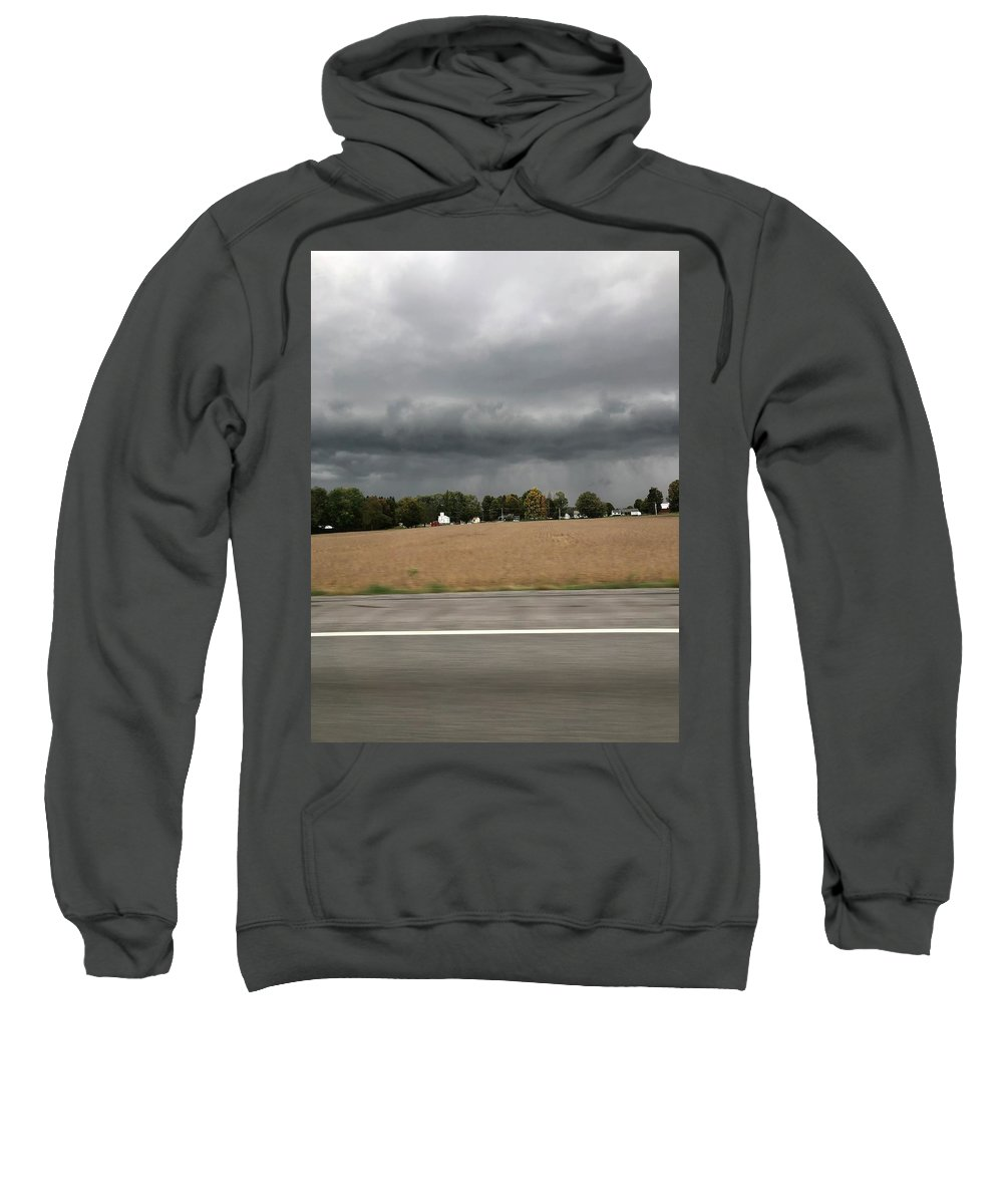 Sweatshirt featuring the photograph Angry Skies by Freddy Alsante