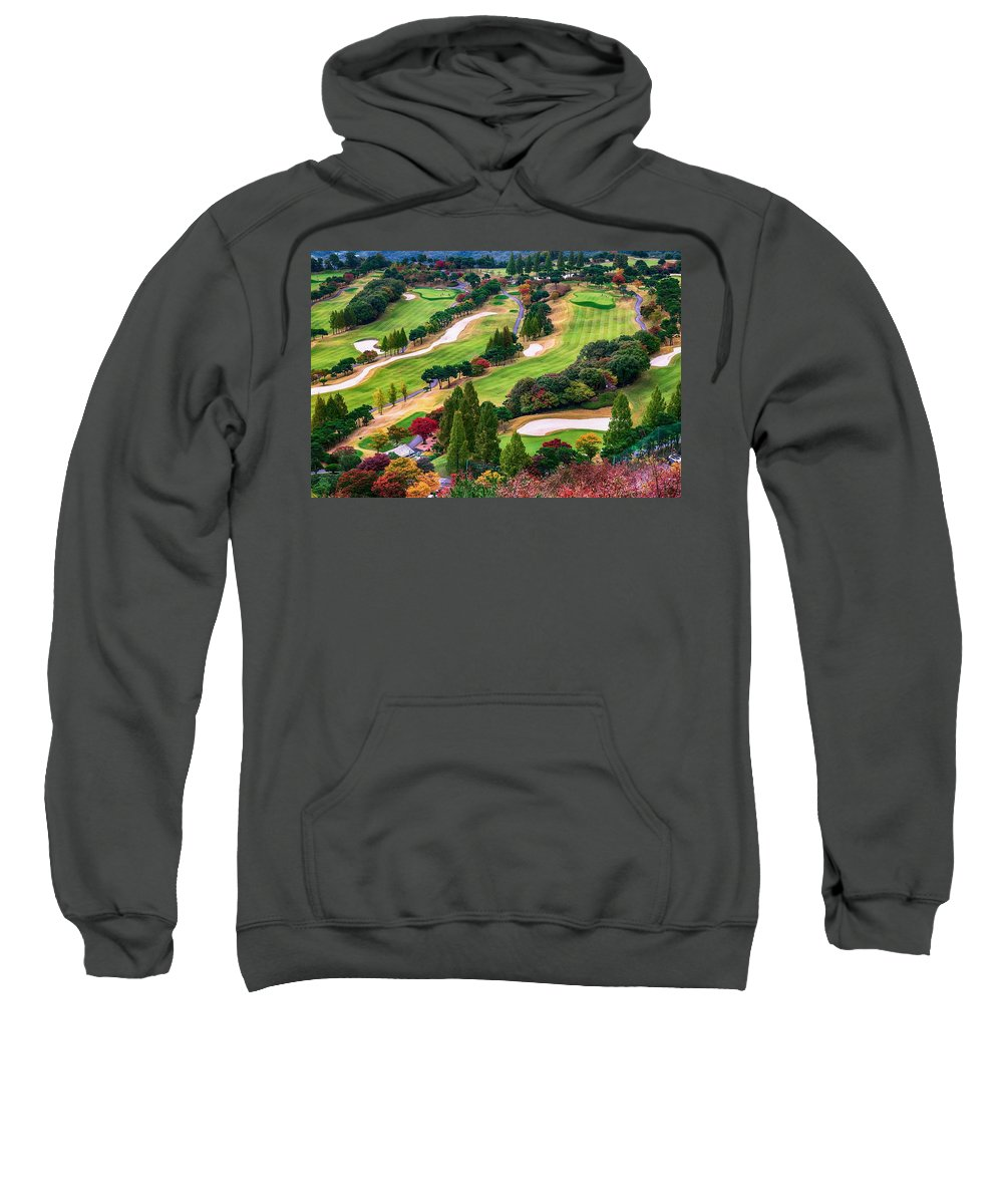 Photography Sweatshirt featuring the photograph Autumn Golf Course by Dawn Van Doorn