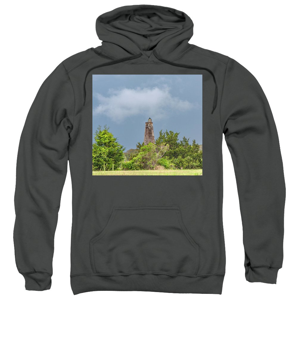 Bald Sweatshirt featuring the photograph Bald Head Island Lighthouse by Betsy Knapp