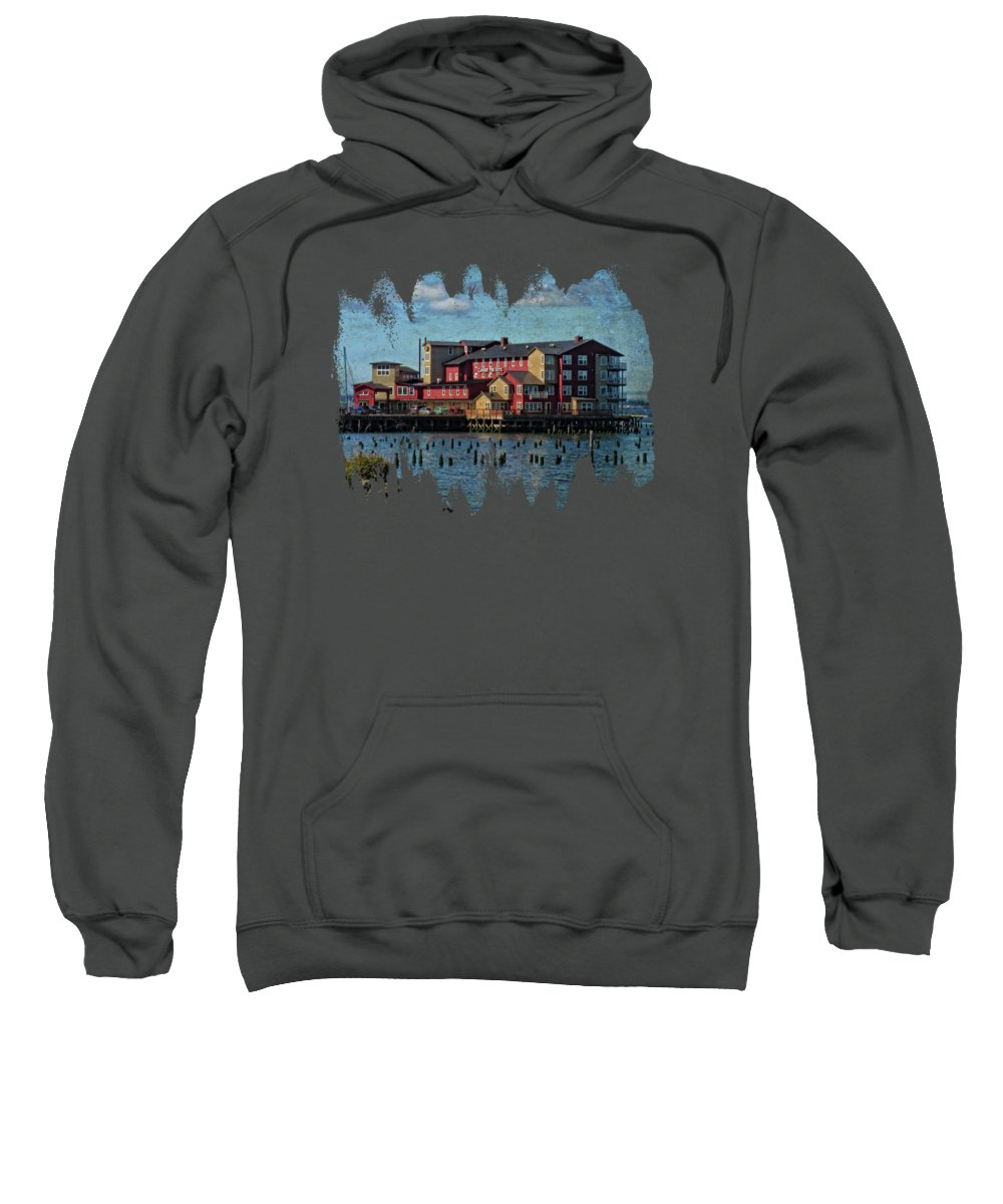 Hdr Sweatshirt featuring the photograph Cannery Pier Hotel by Thom Zehrfeld