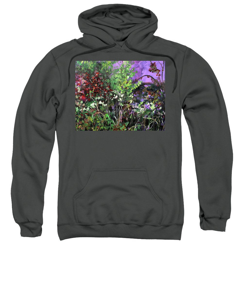 Summer Sweatshirt featuring the painting Changing Seasons by Julianne Hunter