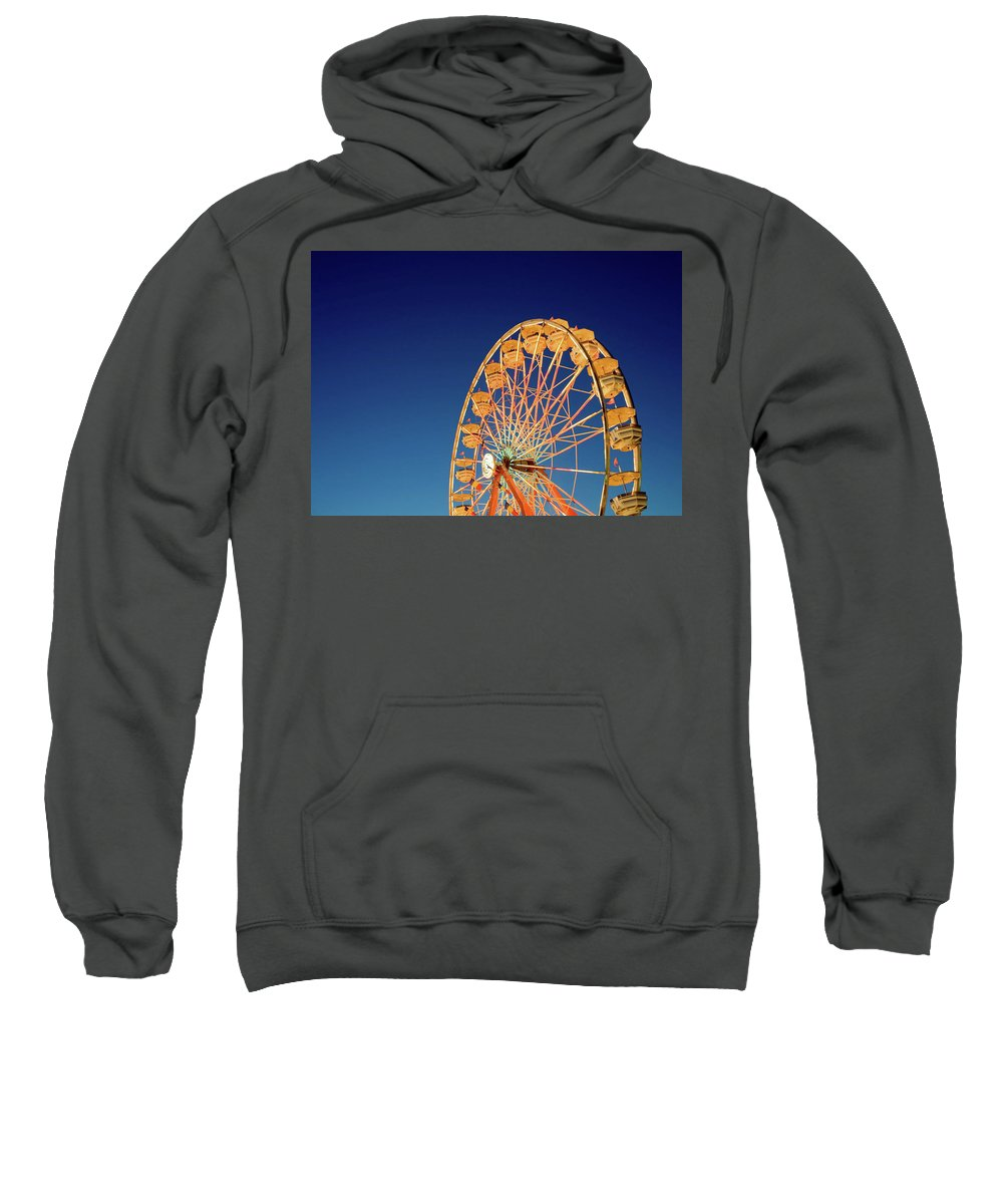 Ferris Wheel Sweatshirt featuring the photograph Chariots Of Gold by Todd Klassy