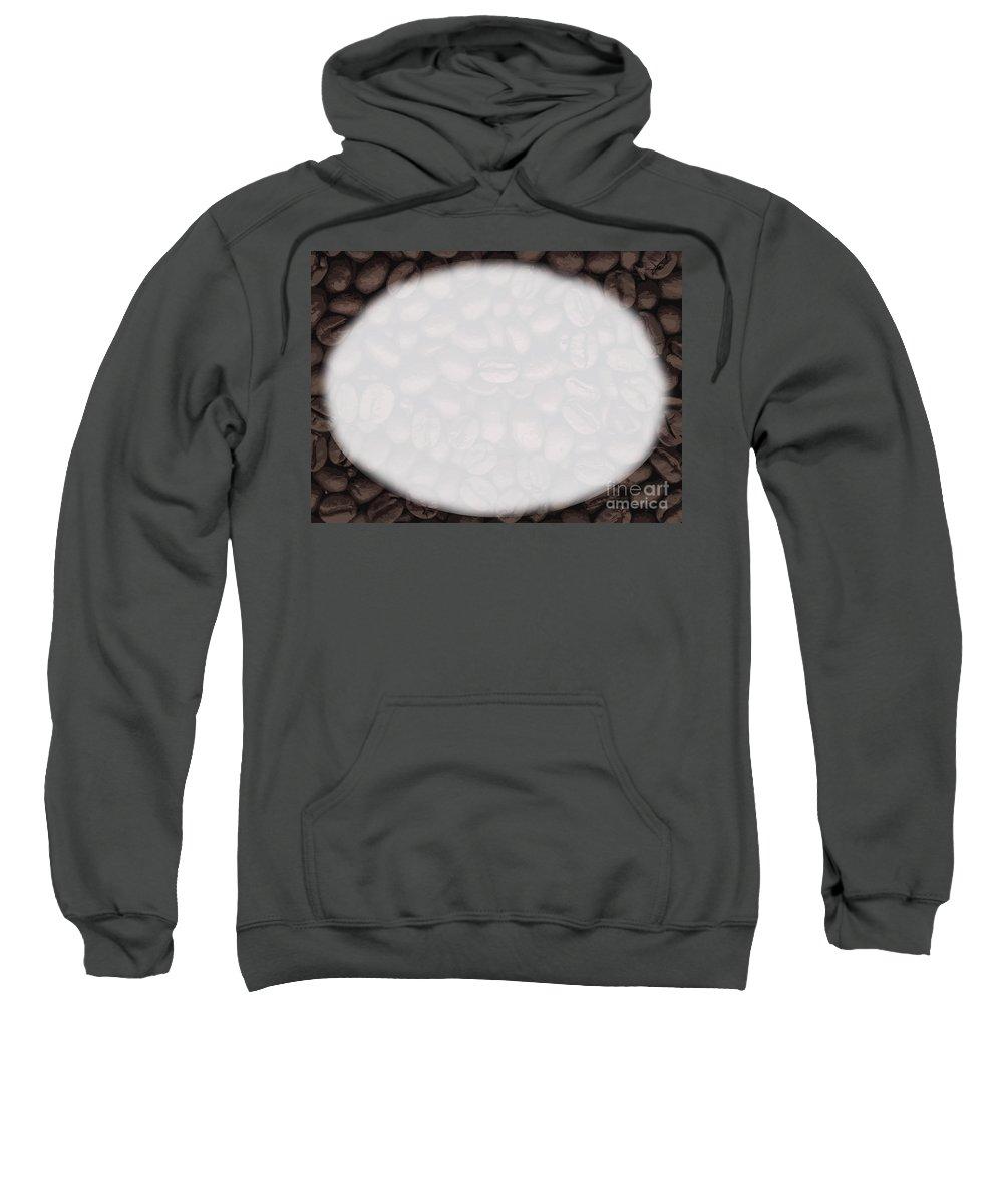 Coffee Sweatshirt featuring the digital art Coffee Beans Copy Space by Bigalbaloo Stock