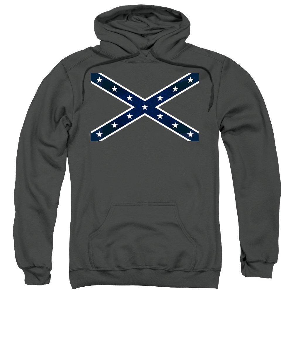 Confederate Flag Sweatshirt featuring the digital art Confederate Stars And Bars T-shirt by Daniel Hagerman