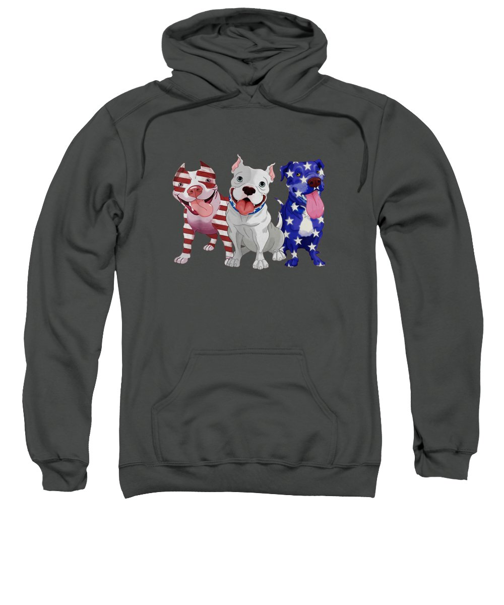 girls' Novelty T-shirts Sweatshirt featuring the digital art Cute American Bully Flag Bully Onwer T-shirt by Unique Tees