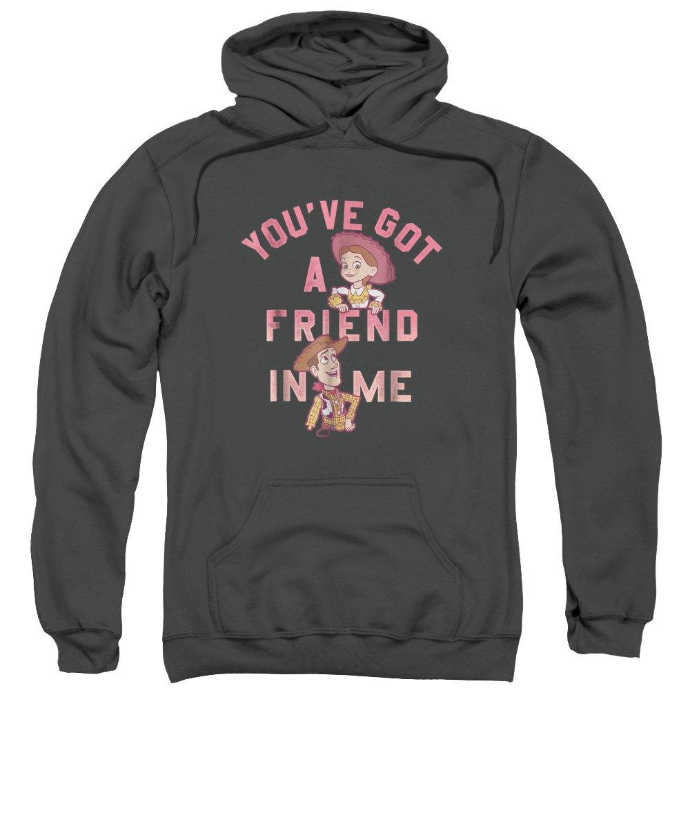 girls' Novelty T-shirts Sweatshirt featuring the digital art Disney Pixar Toy Story Got A Friend In Me Graphic T-shirt by Do David