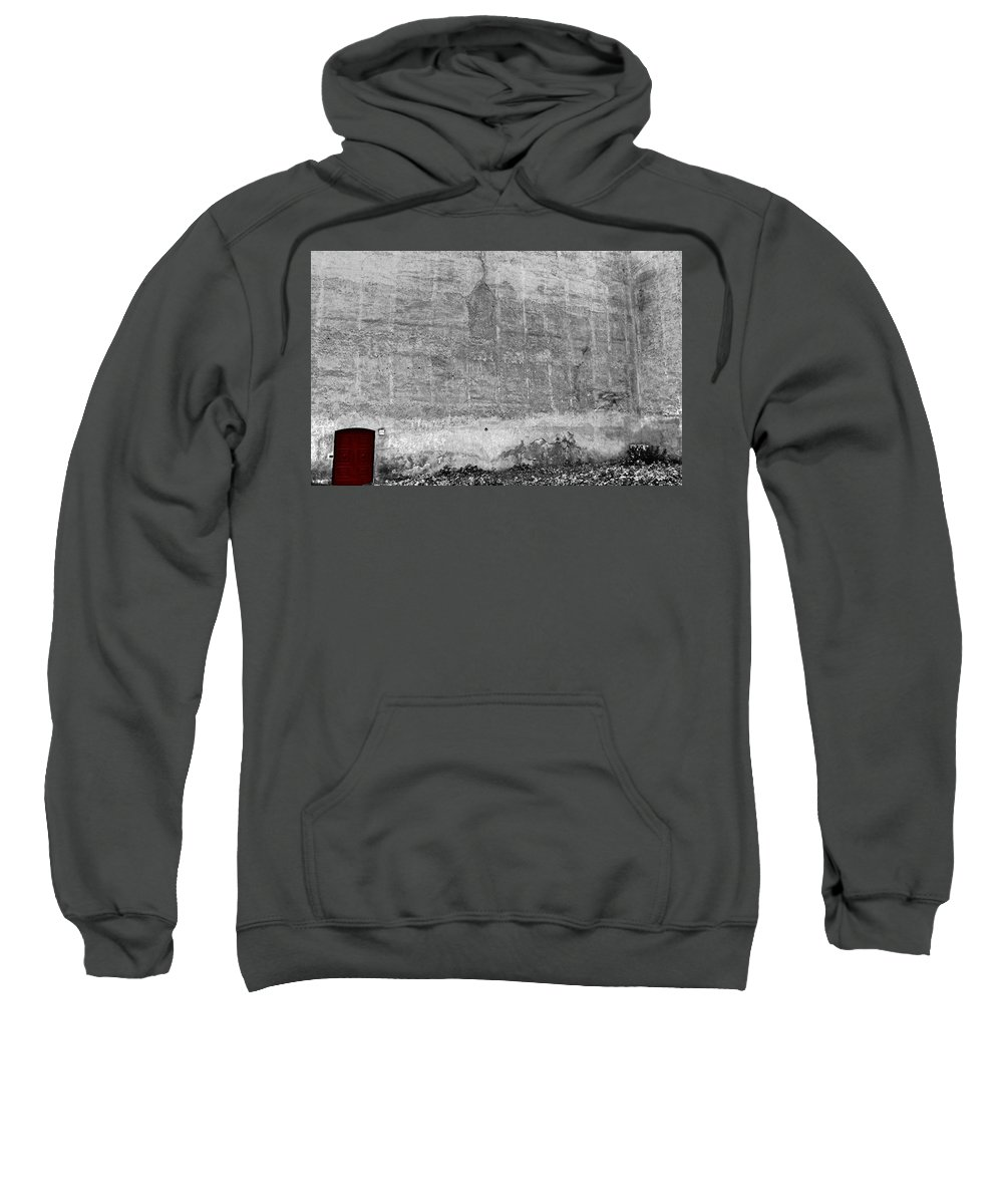 Black And White Sweatshirt featuring the photograph Door by Mary North