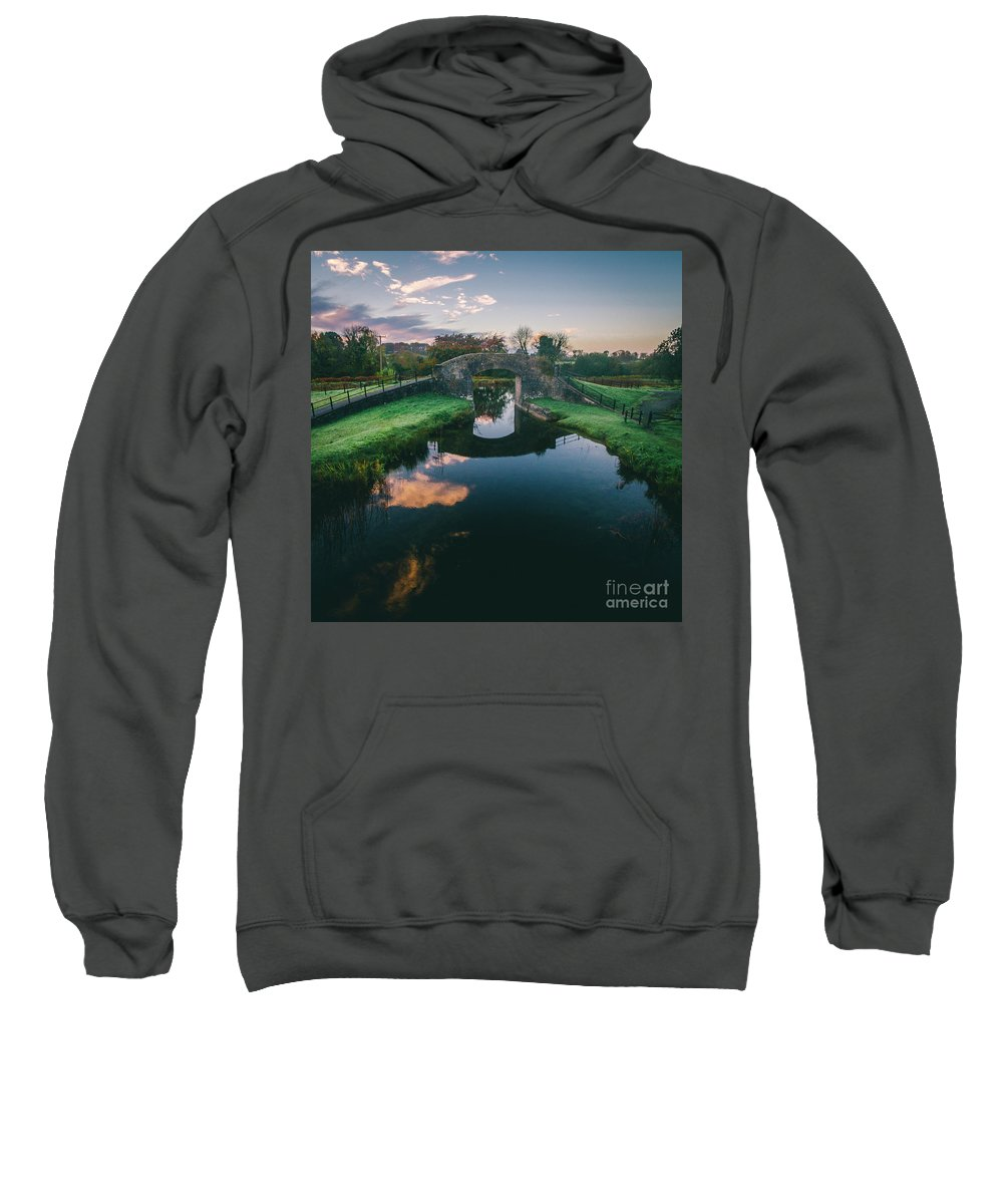 Grand Canal Sweatshirt featuring the photograph Downshire Bridge by Jeremy Simpson