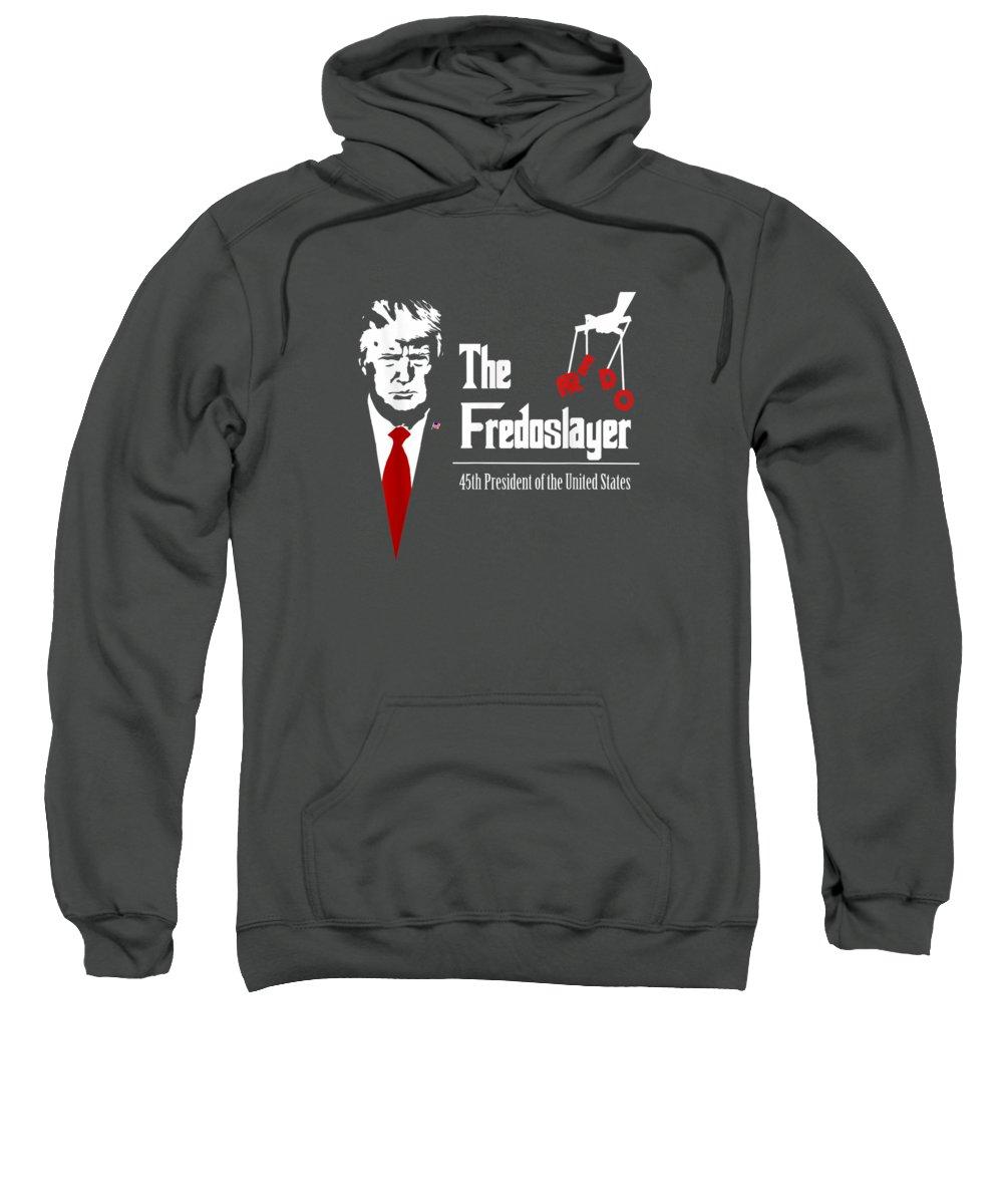 girls' Novelty T-shirts Sweatshirt featuring the digital art Fake News Fredo Make Liberals Cry Again Trump Maga Tshirt by Do David