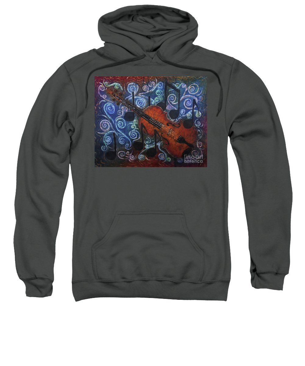 Fiddle Sweatshirt featuring the painting Fiddle 1 by Sue Duda