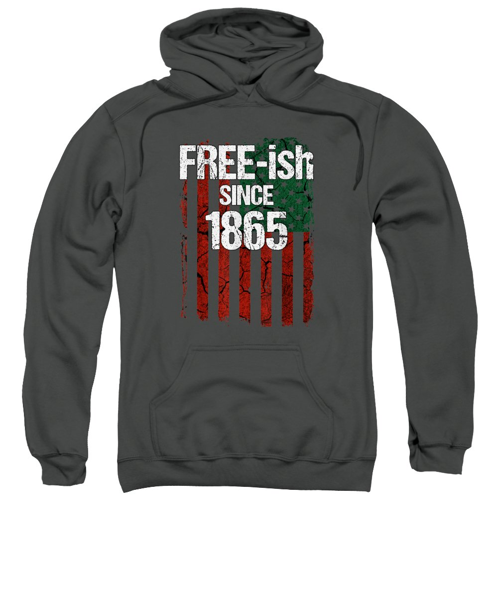 girls' Novelty T-shirts Sweatshirt featuring the digital art Free-ish Since 1865 Juneteenth Day Flag Black Pride Tshirt by Unique Tees