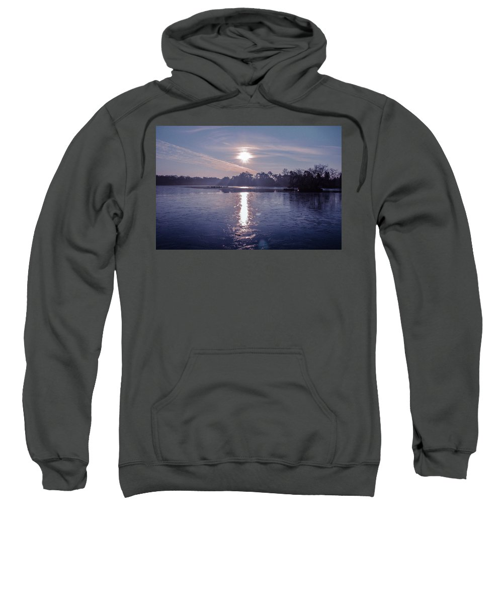 Lake Sweatshirt featuring the photograph Frozen by Claire Lowe