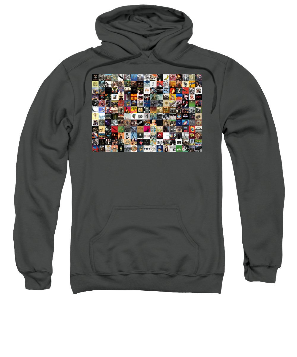 Album Covers Sweatshirt featuring the digital art Greatest Rock Albums of All Time by Zapista OU