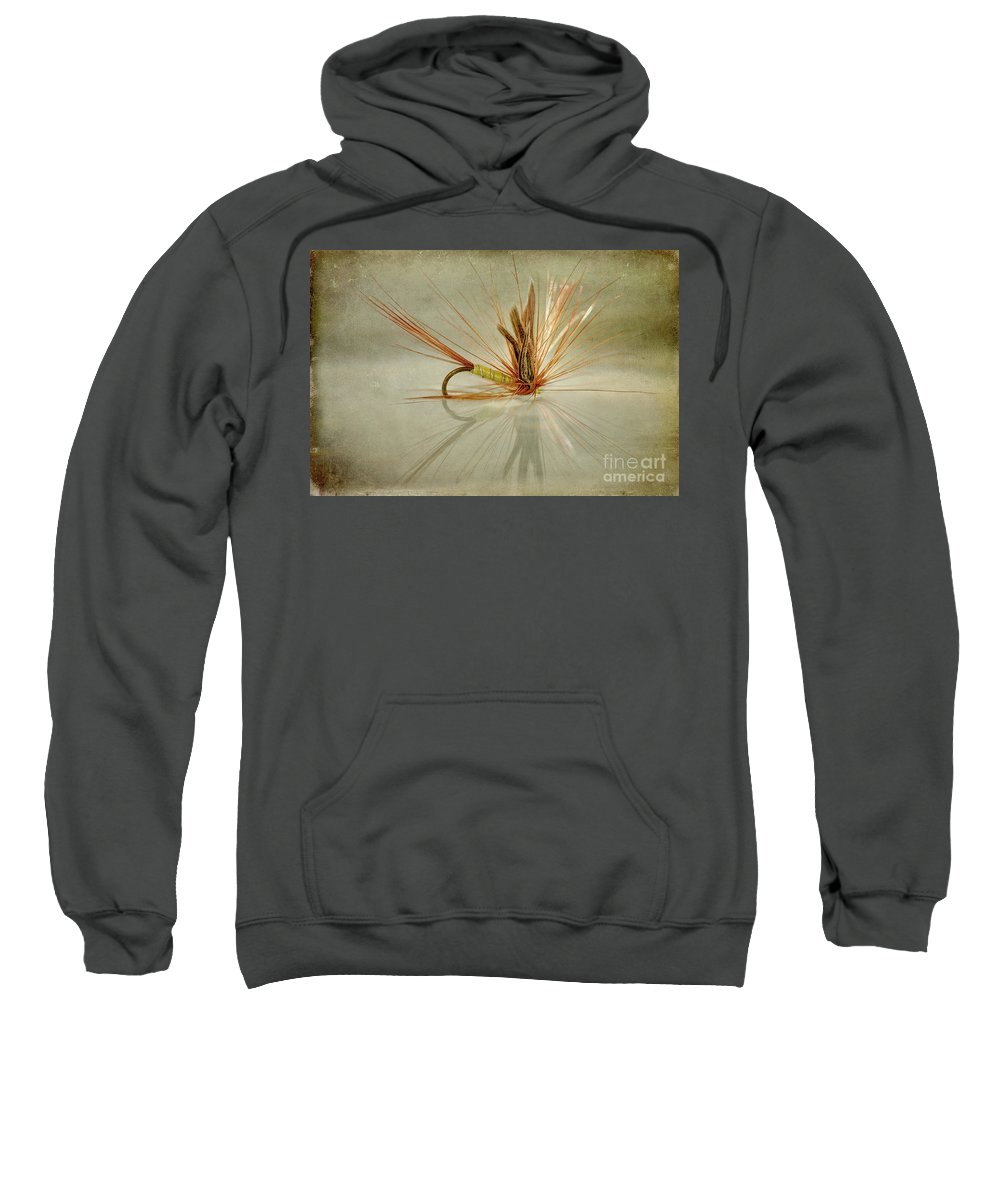 Trout Fishing Fly Sweatshirt featuring the photograph Greenwells Glory Dry Fly by John Edwards