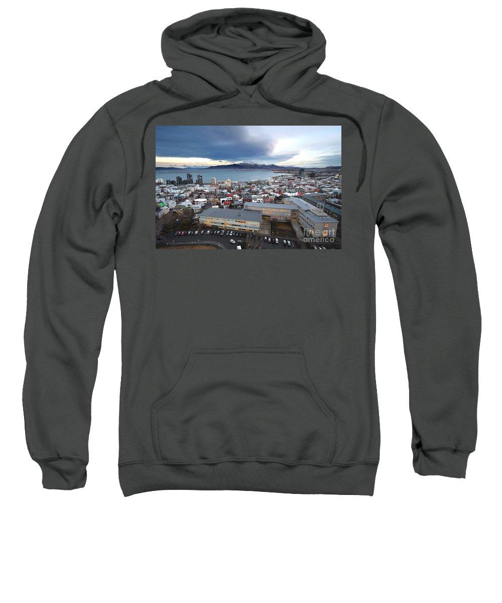 Hallgrimskirkja Sweatshirt featuring the photograph Hallgrimskirkja by Floyd Menezes