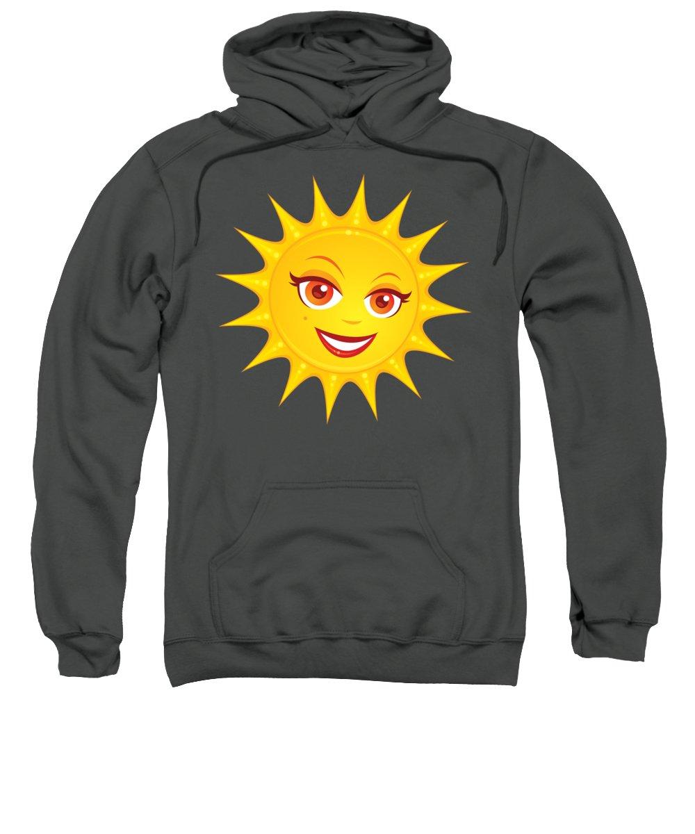 Beach Sweatshirt featuring the digital art Hot Summer Sun by John Schwegel