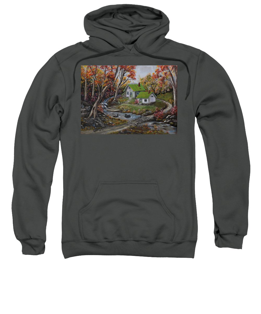Landscape Sweatshirt featuring the painting In the Circle by Irene Clarke