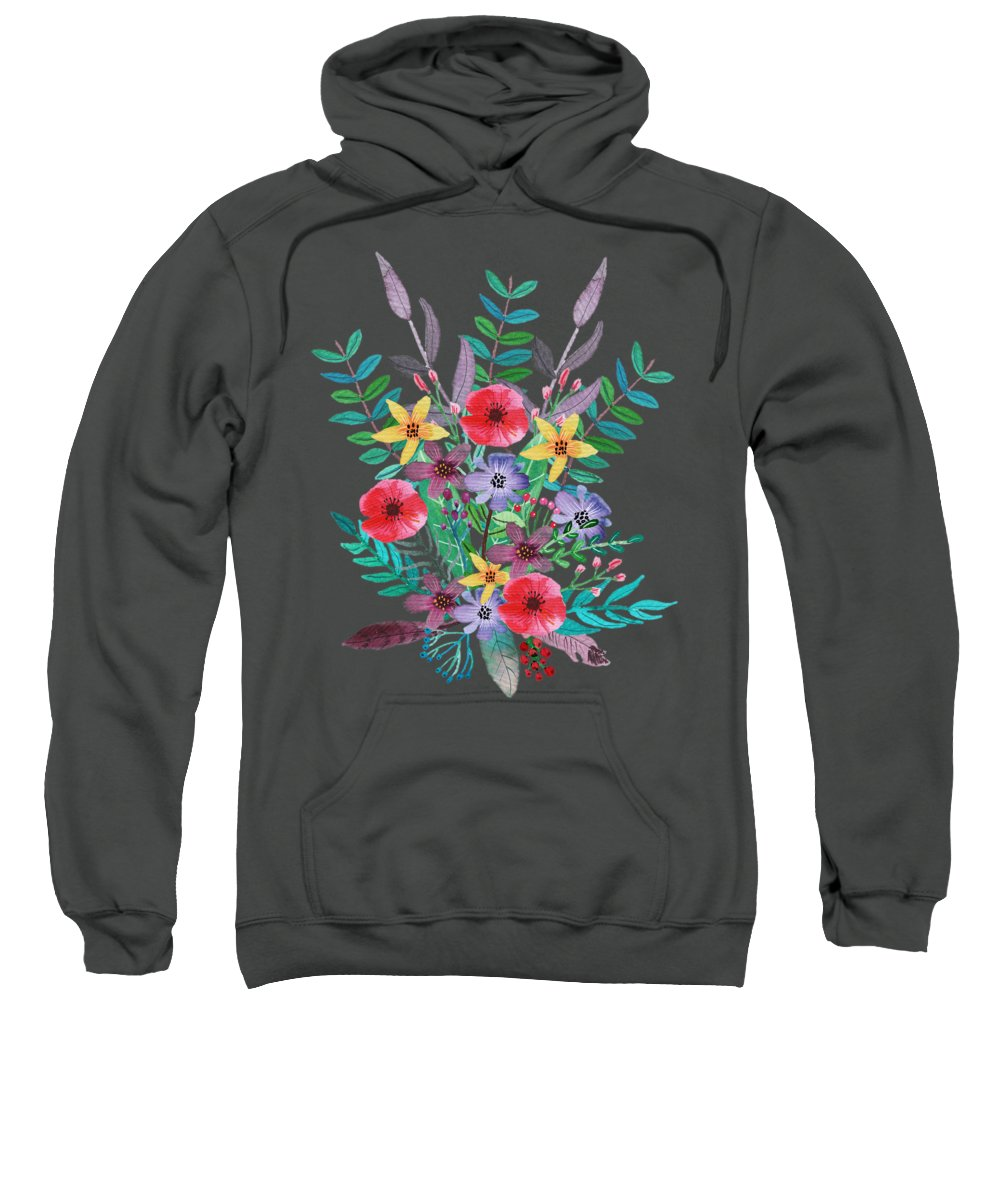 Flower Hooded Sweatshirts T-Shirts