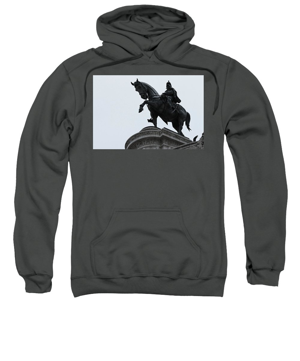 Rome Sweatshirt featuring the photograph Knight by Mary North