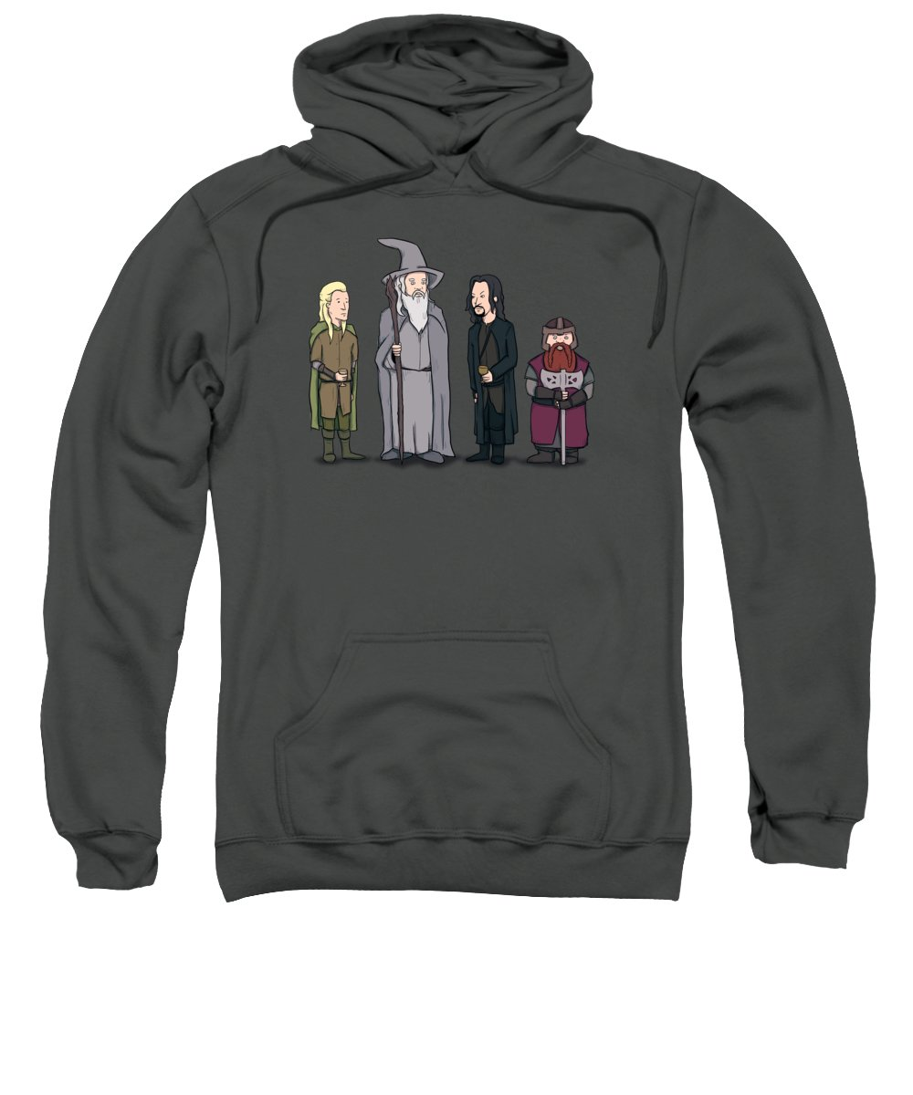 Lord Of The Hill Sweatshirt featuring the drawing Lord Of The Hill by Ludwig Van Bacon