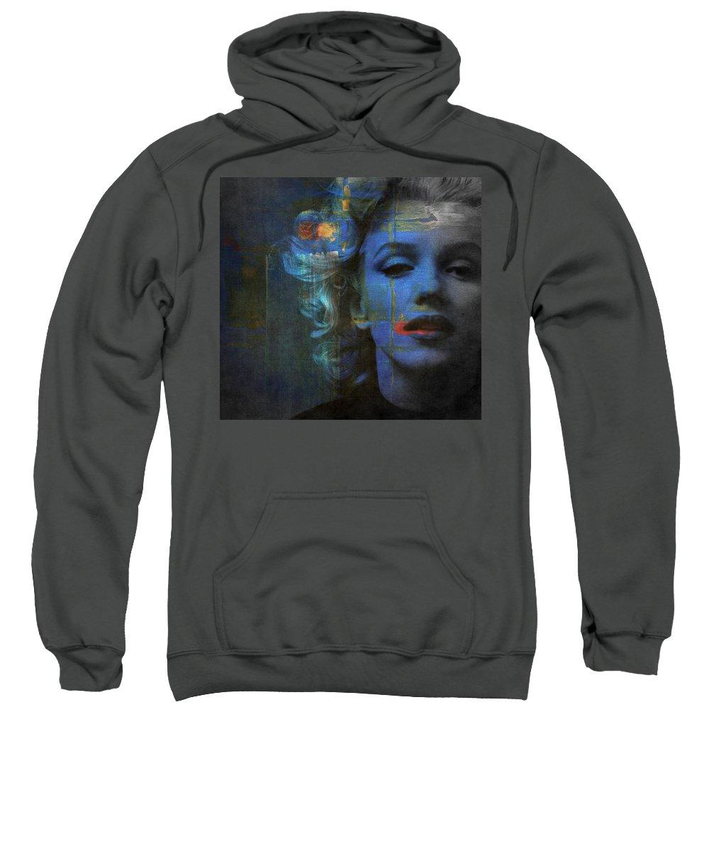 Monroe Sweatshirt featuring the mixed media Marilyn Monroe - Retro by Paul Lovering