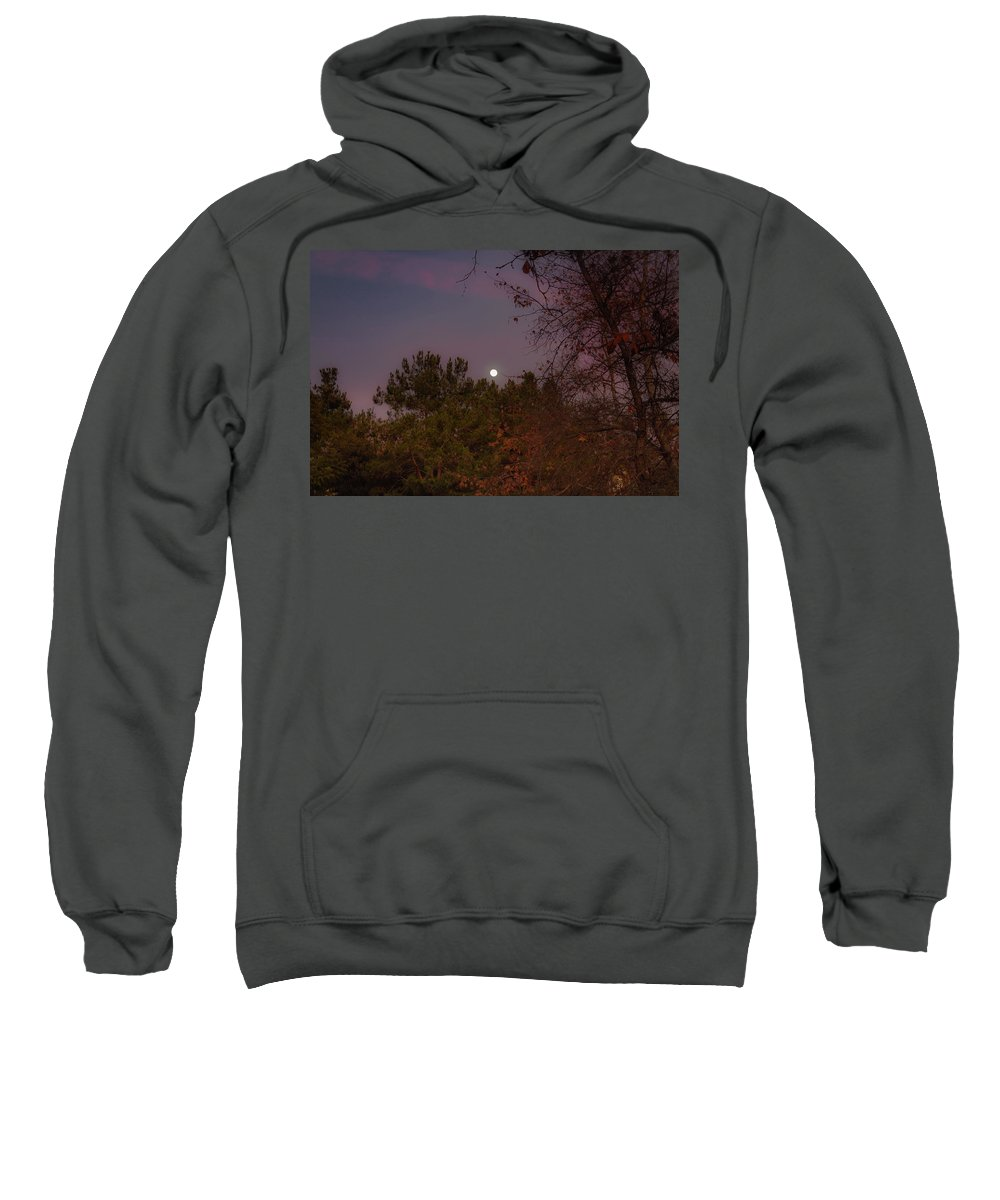 Moon Sweatshirt featuring the photograph Marvelous Moonrise by Alison Frank