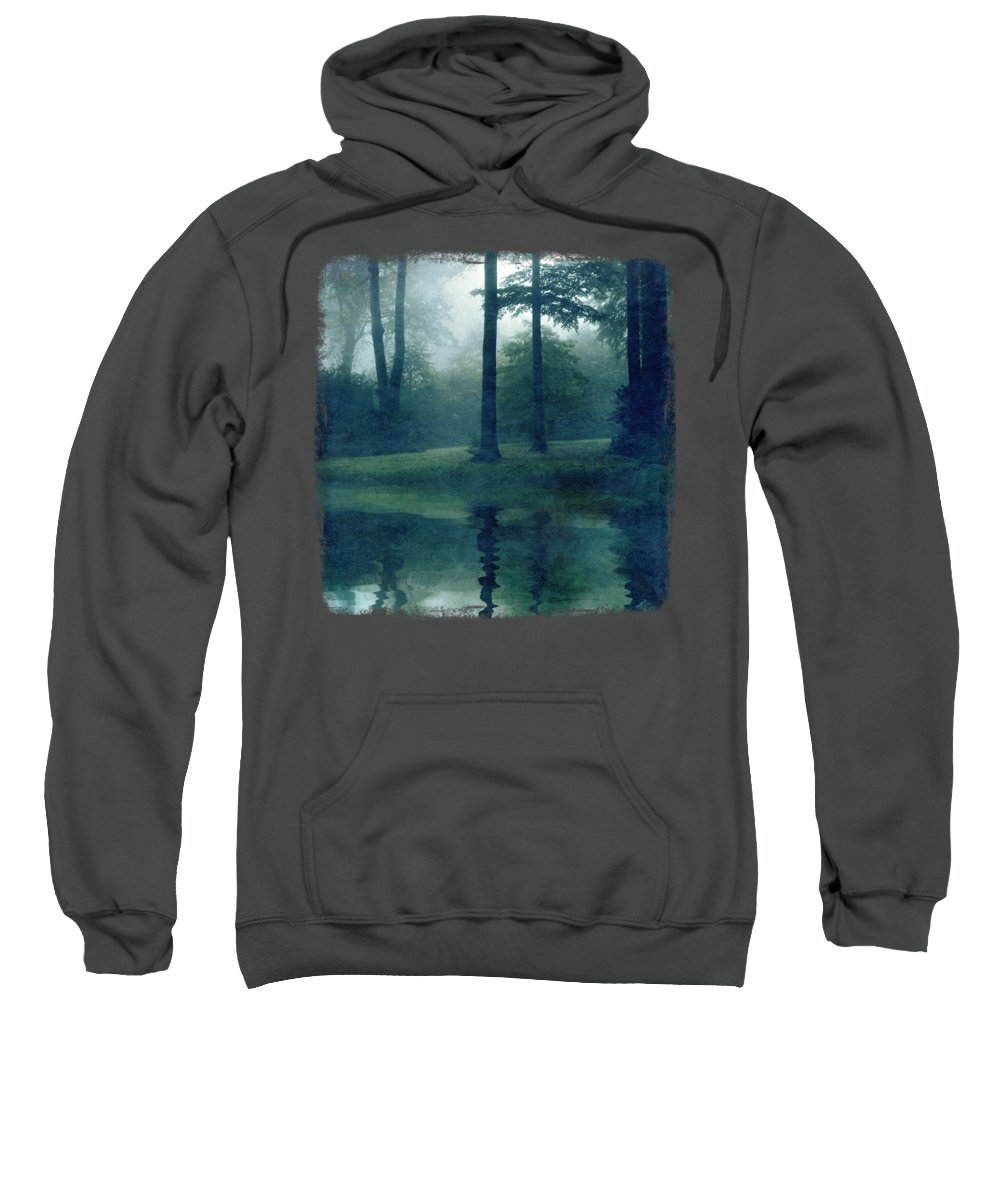 Forest Sweatshirt featuring the photograph Out of reach - Forest Reflection by Dirk Wuestenhagen
