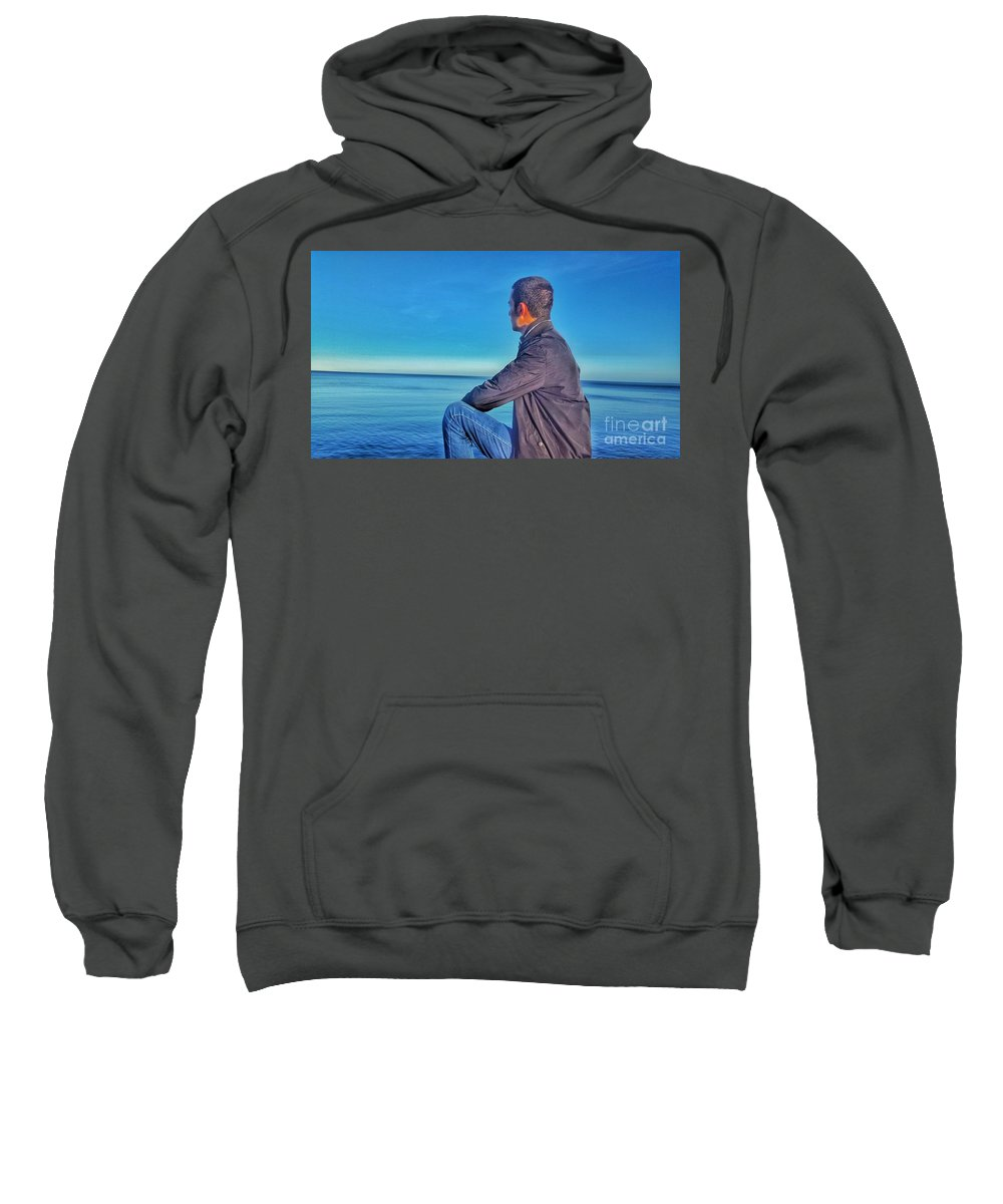 Over See Sweatshirt featuring the photograph Over See by Adil Boulouiha