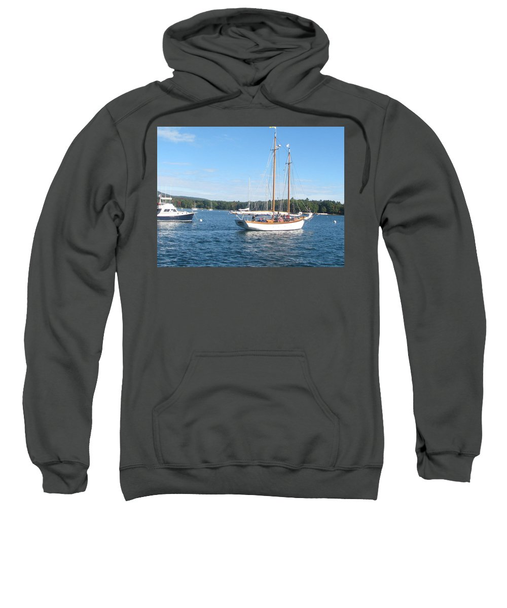 Sailboat Sweatshirt featuring the photograph Photo #102 by Suzanne Buckland