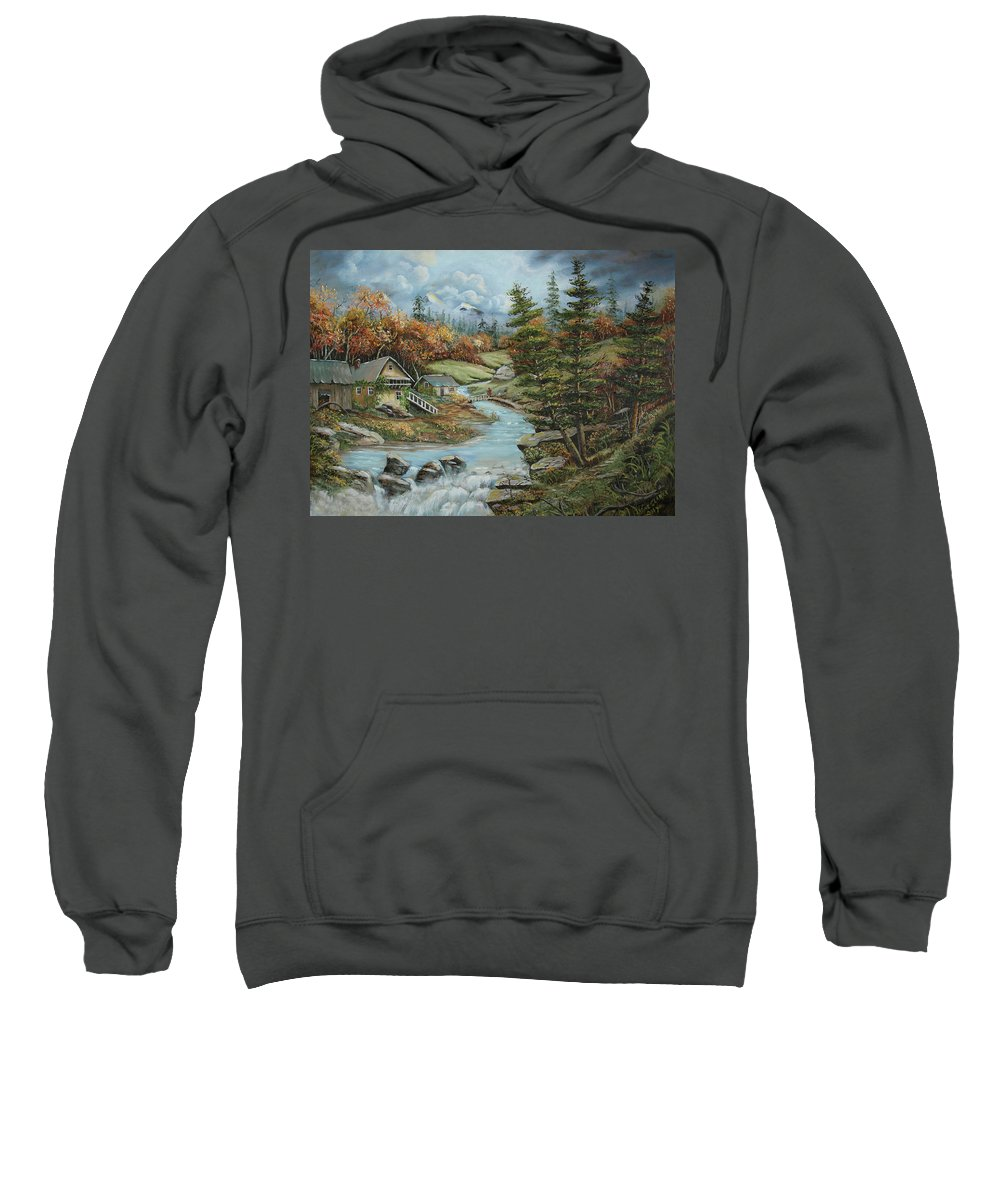 Painting Sweatshirt featuring the painting Picanoc Dreamer by Irene Clarke